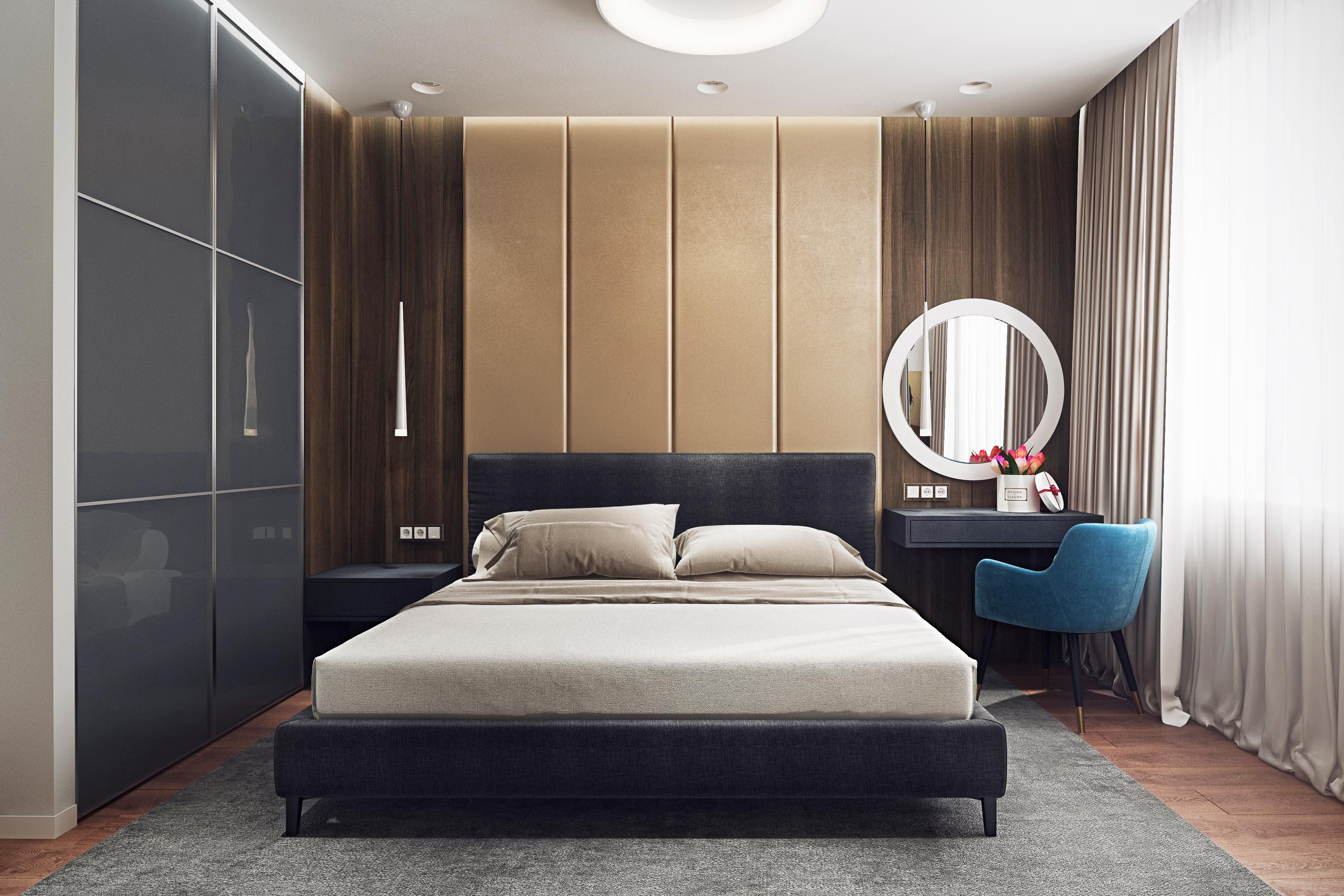 Дизайн квартиры ЖК Путилково — спальня