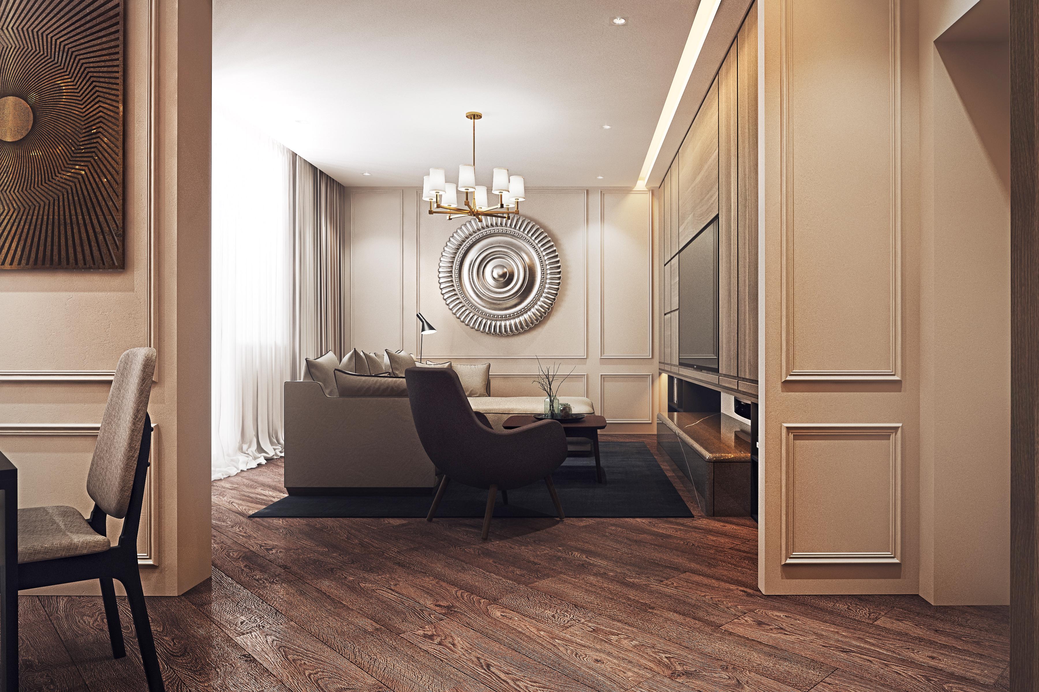 Дизайн квартиры ЖК Путилково — гостиная