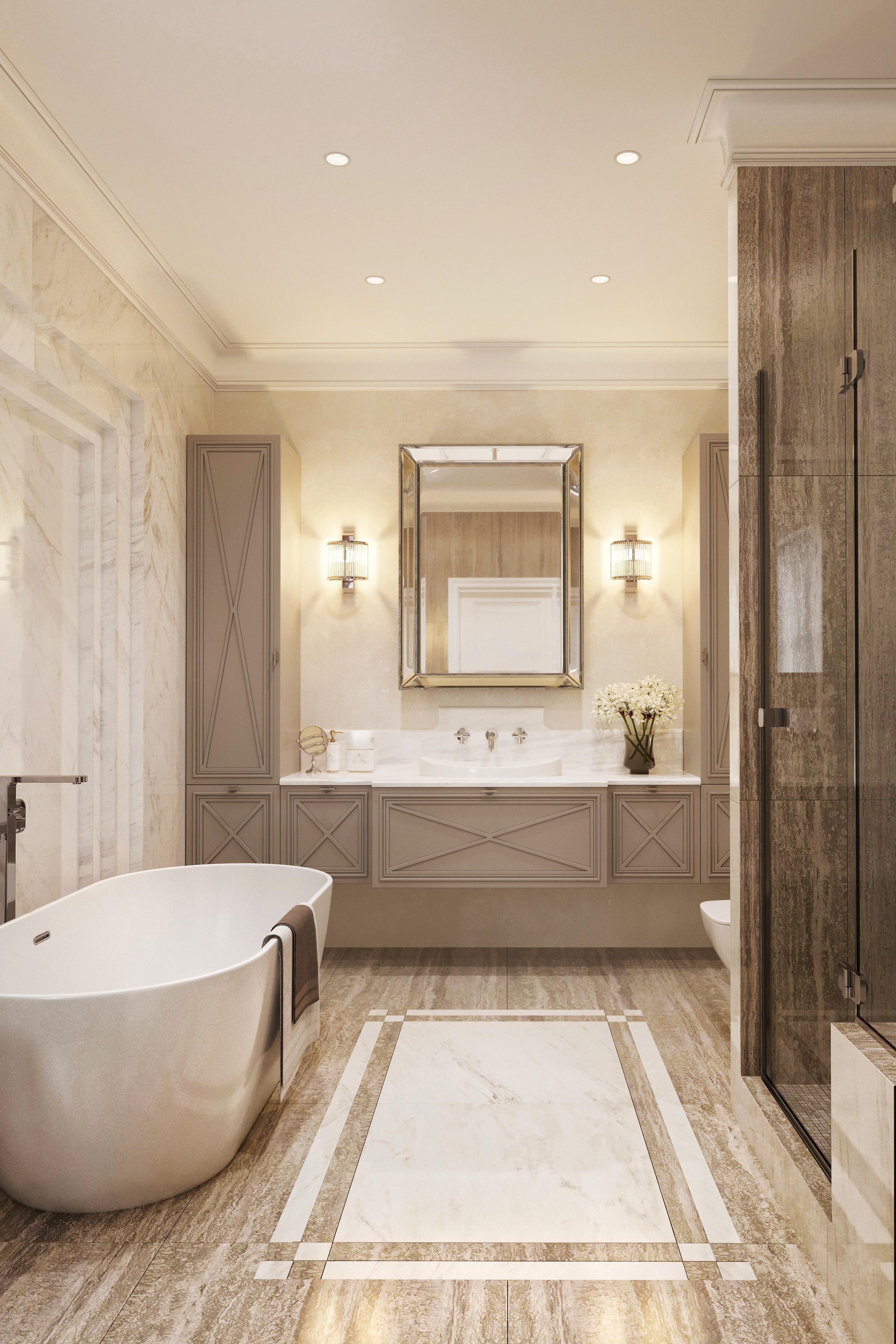Дизайн ванной в ЖК Донской Олимп