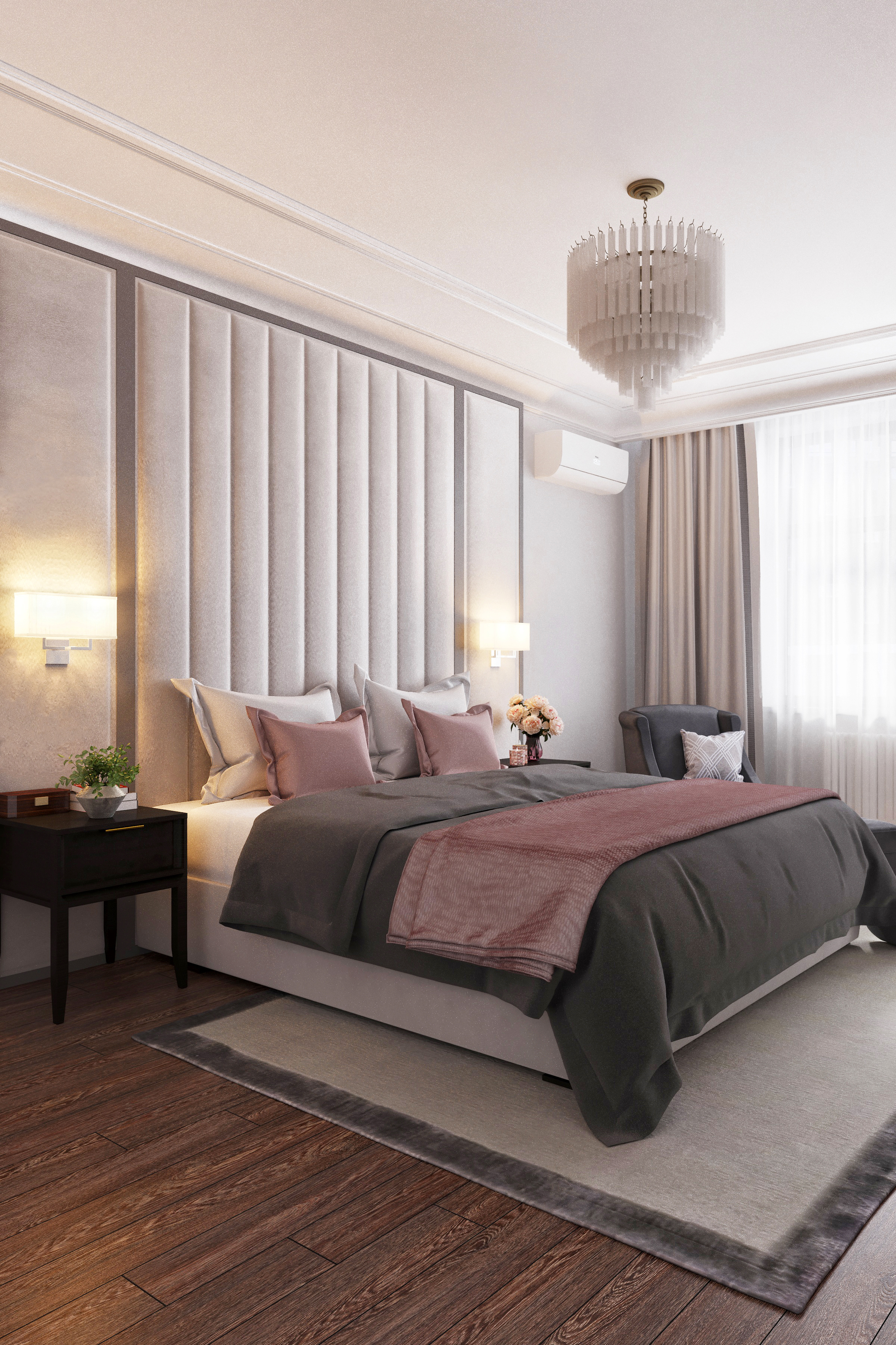 Дизайн спальни в ЖК Донской Олимп