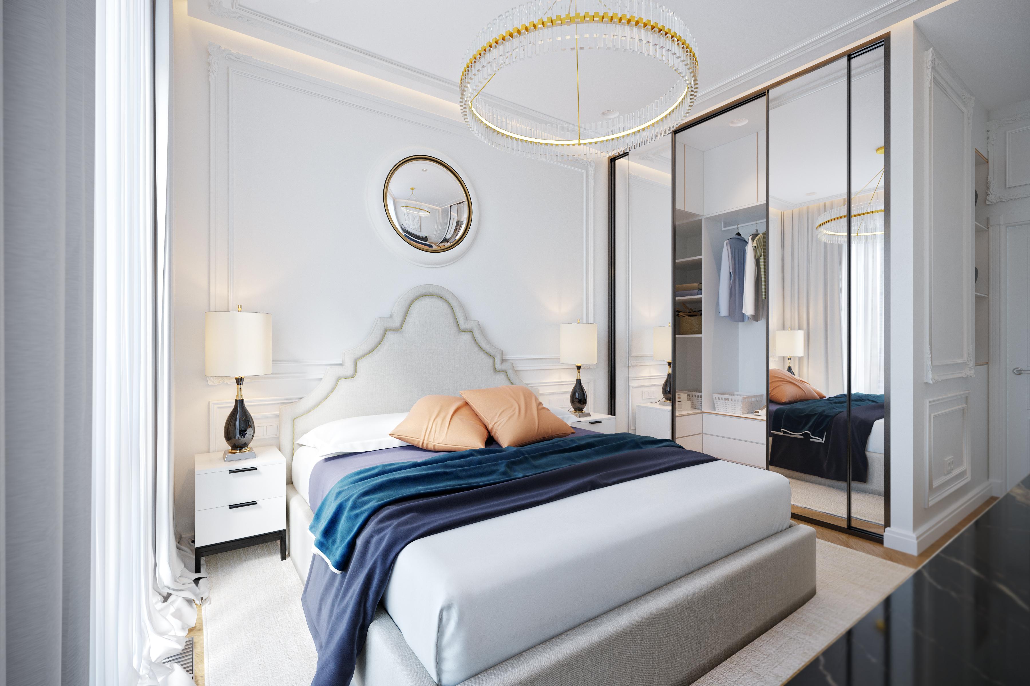 Дизайн спальни ЖК Пресня Сити