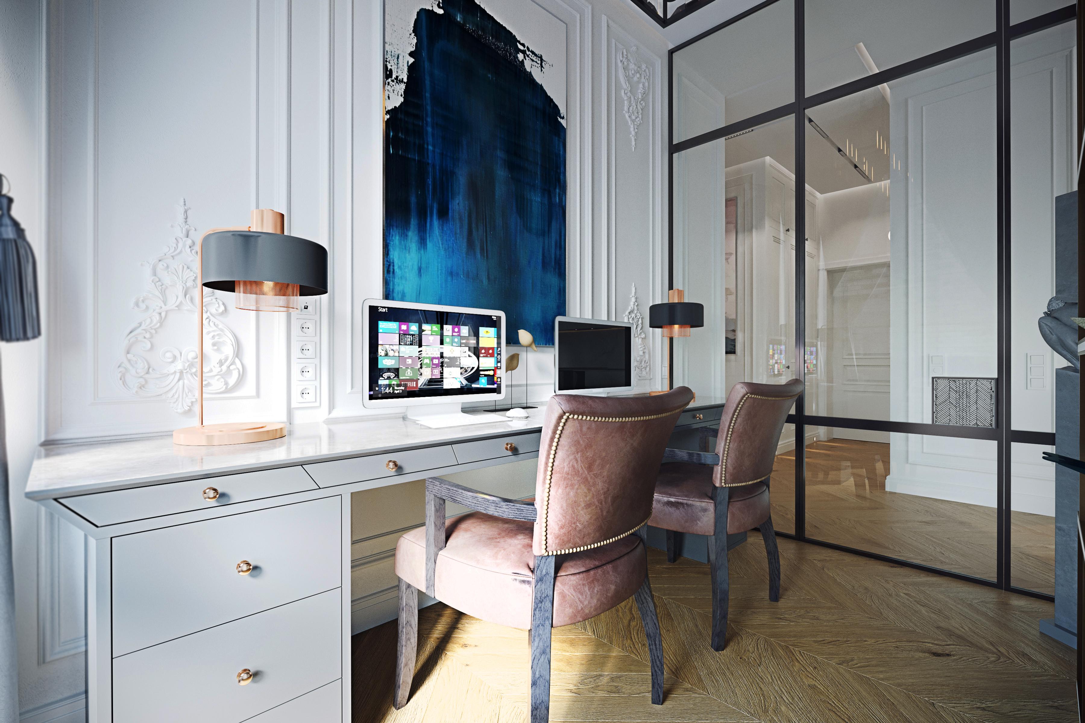 Дизайн кабинета ЖК Пресня Сити