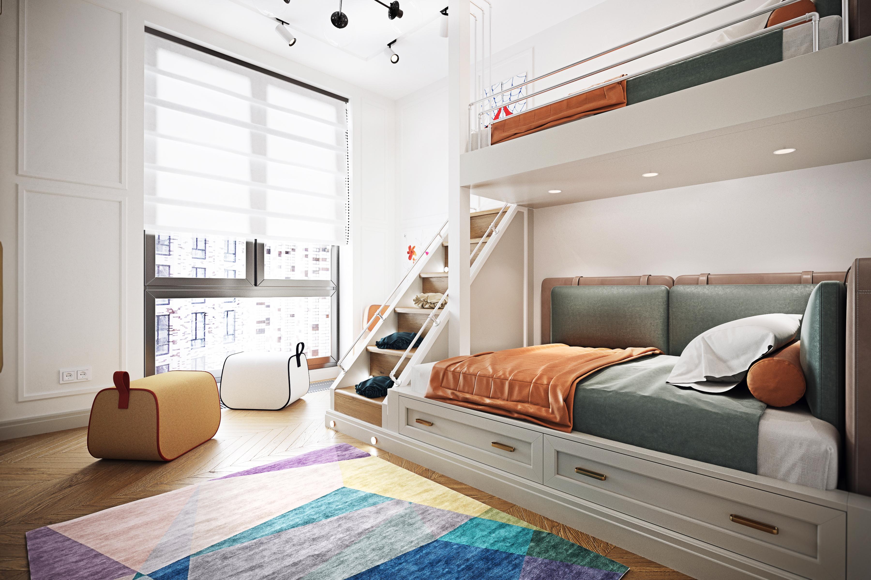Дизайн детской комнаты  ЖК Пресня Сити