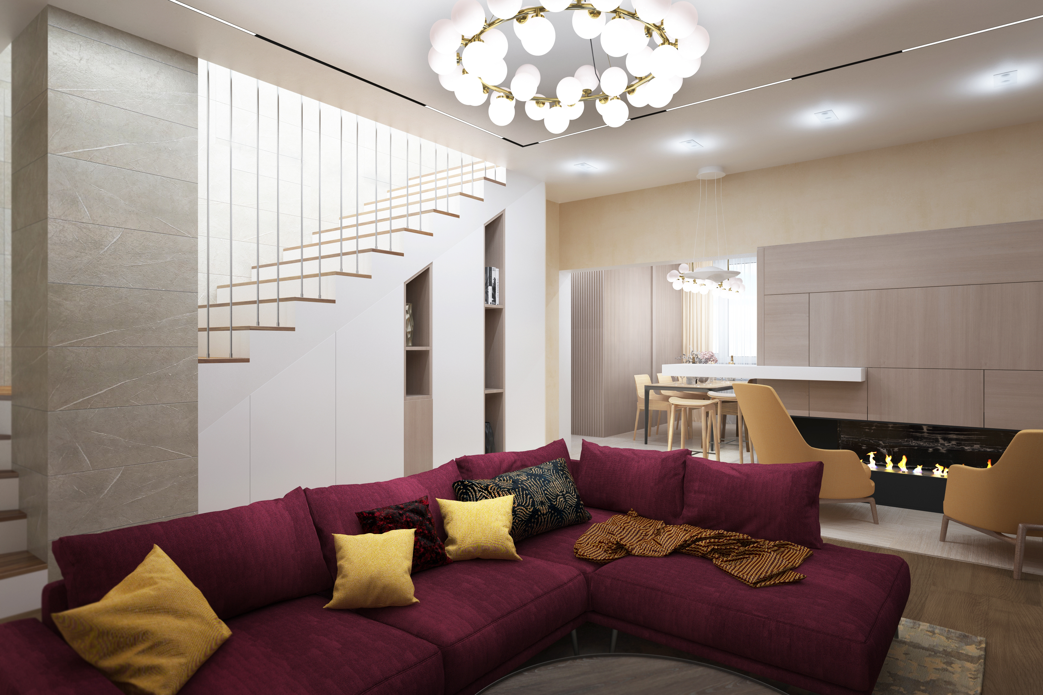 Дизайн-проект дома 250м2 в Подмосковье