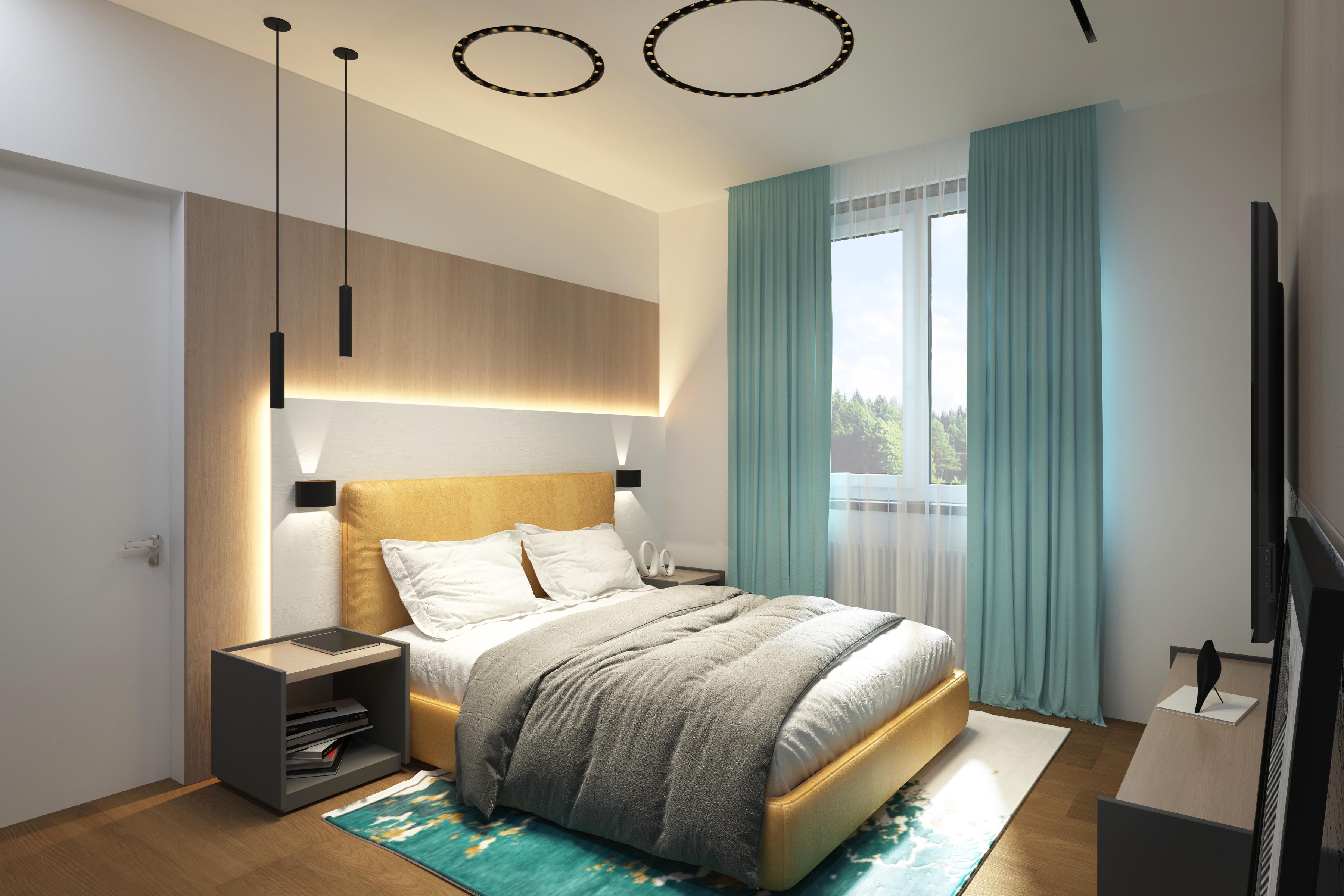 Дизайн гостевой спальни в дома 250 м2