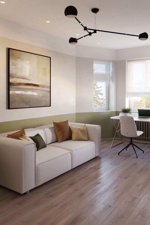 Дизайн интерьера гостевой комнаты таунхауса. Заповедный парк