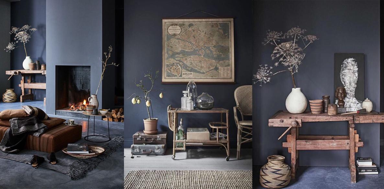 Дымчато-синий цвет в интерьере