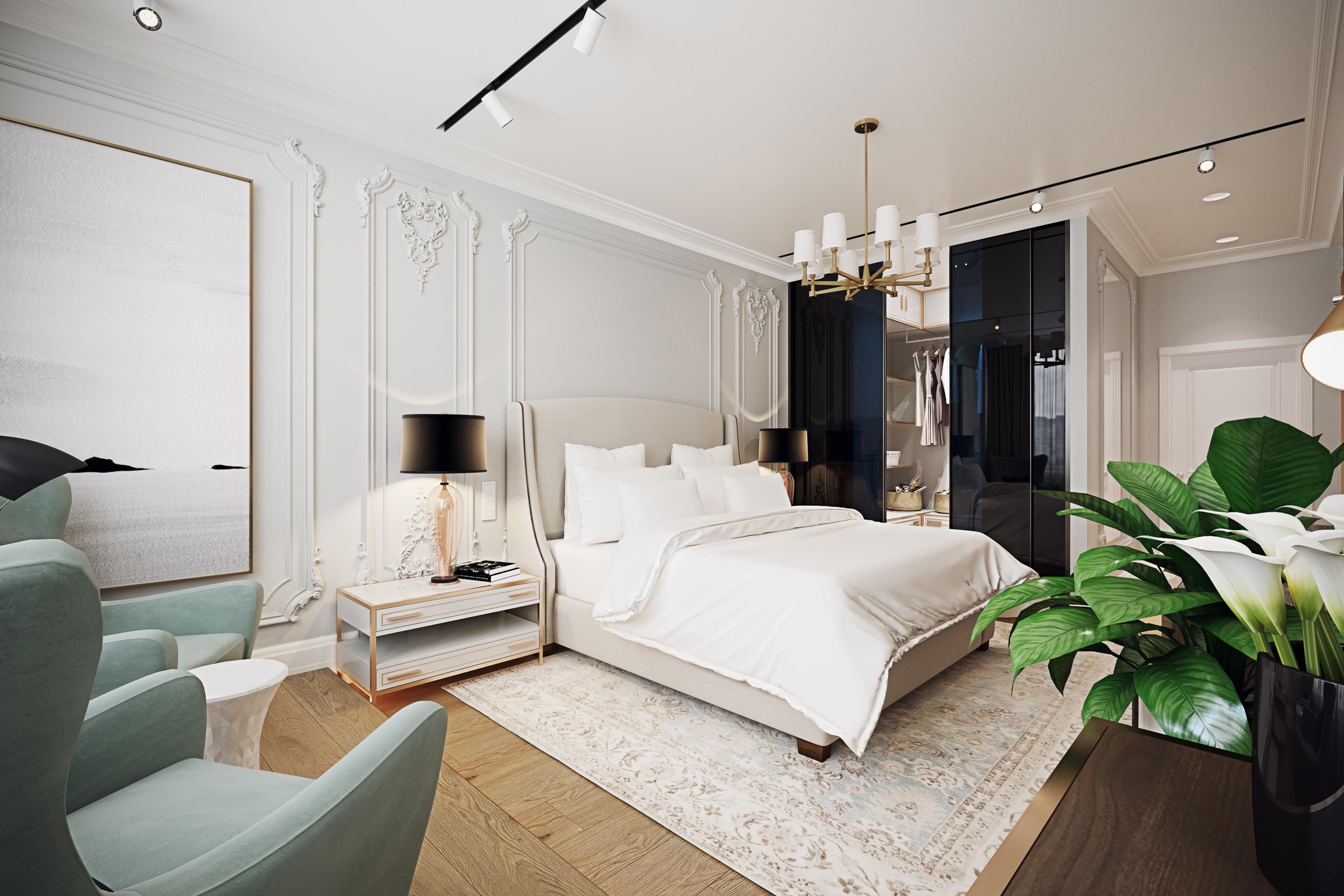 Дизайн спальни в квартире в ЖК Авеню