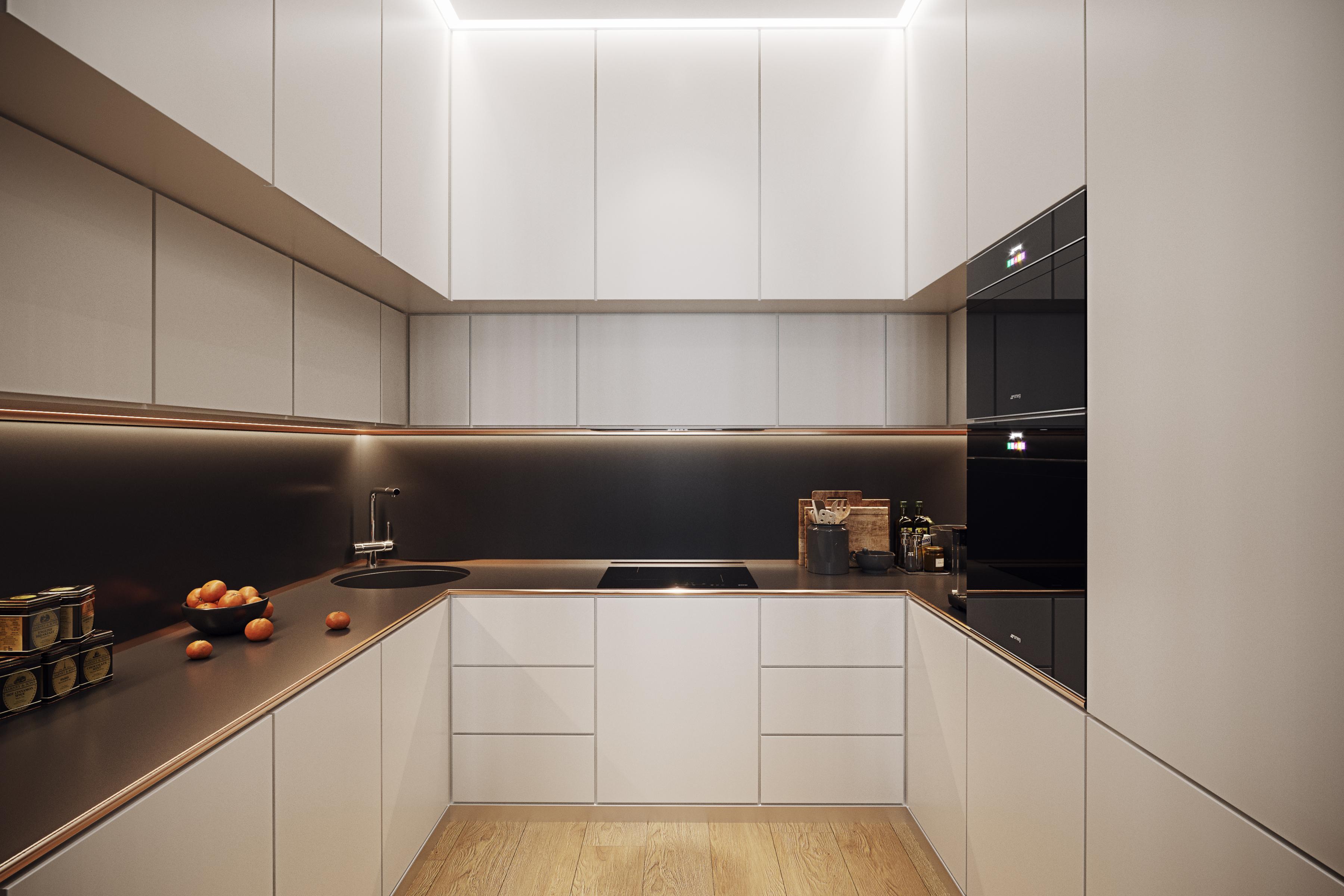 Дизайн стильной кухни. ЖК «Авеню»