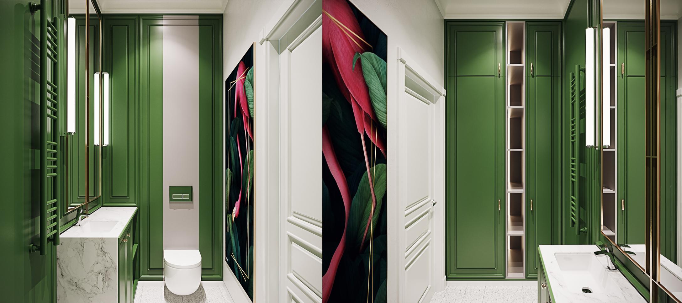 Дизайн гостевого санузла в квартире ЖК  «Авеню»