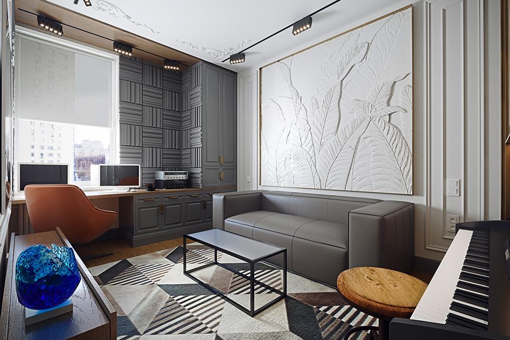 Дизайн интерьера офиса. Концепция холла и приемной зоны для компании «СОГАЗ»