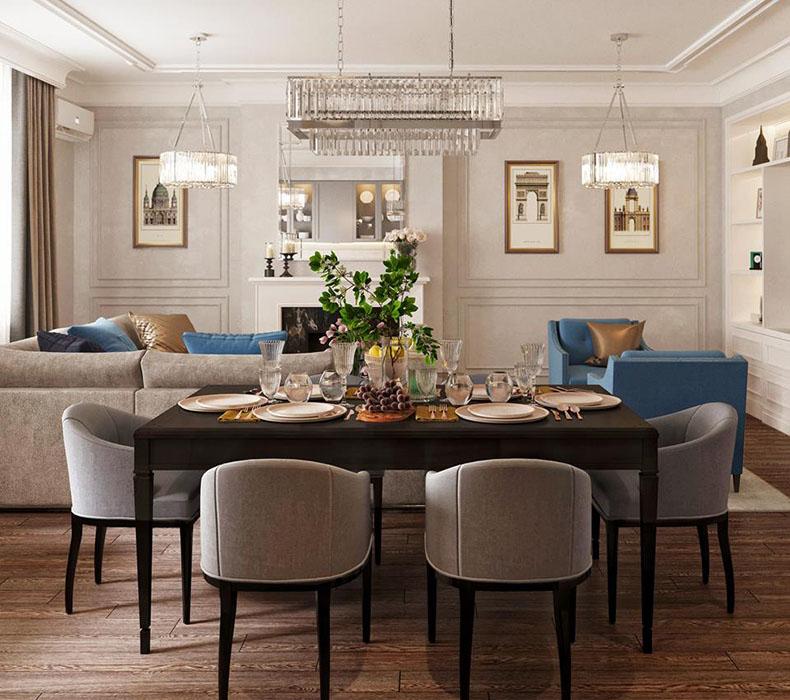 Планировка интерьера квартиры в Современной классике — ЖК Донской Олимп