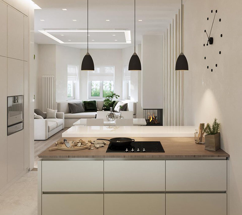 Дизайн интерьера дома 200 кв. м.