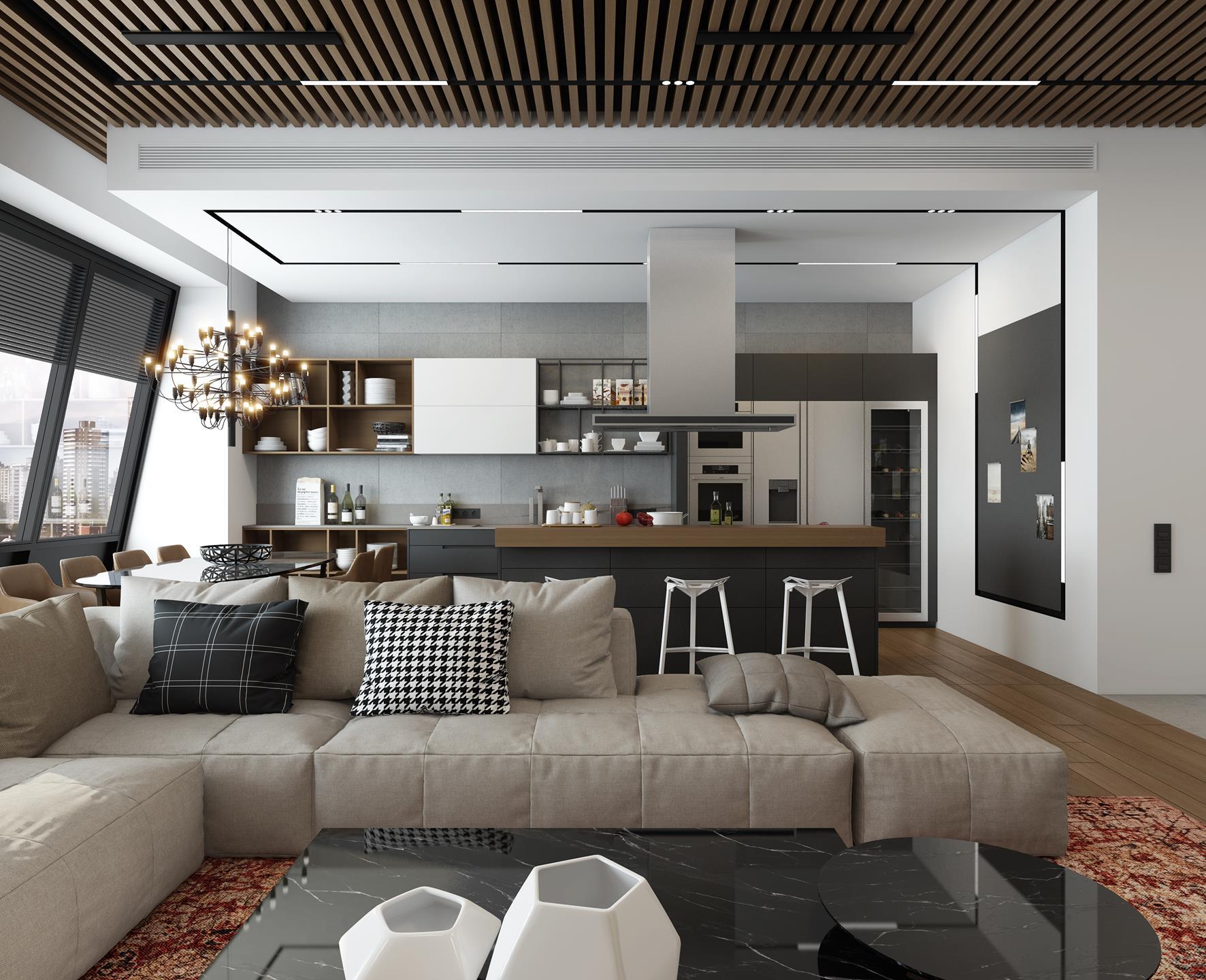 Дизайн трехкомнатной квартиры 170 кв. м.