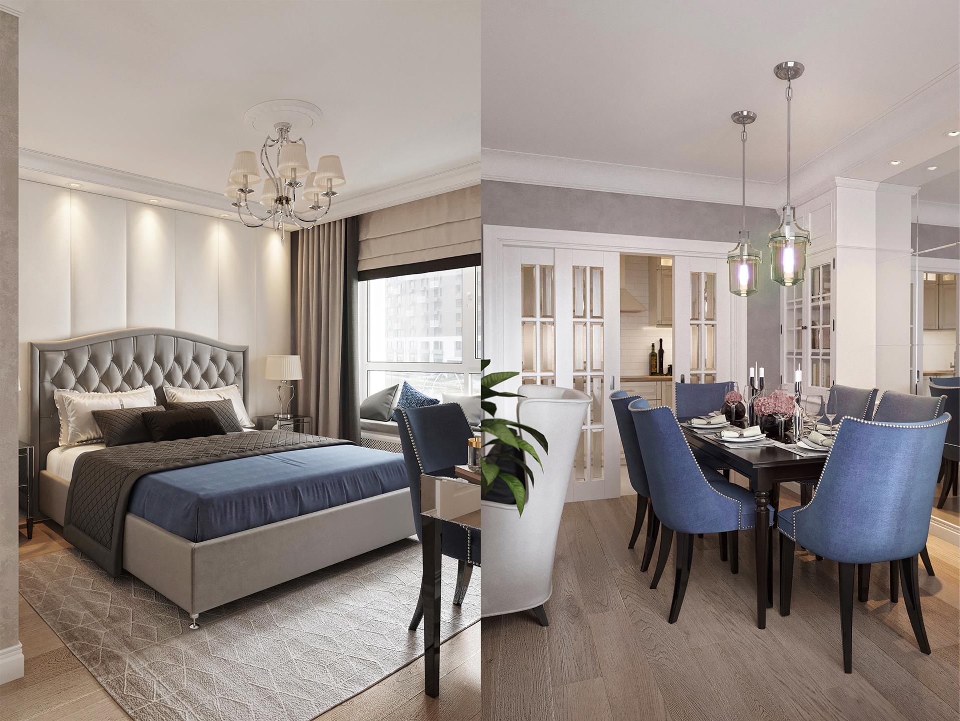 Дизайн квартир в стиле Неоклассика