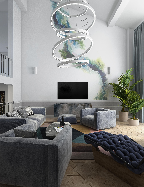 Дизайн интерьера дома 500 кв. м.